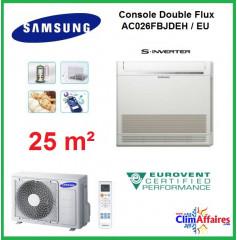 Samsung Console Double Flux Réversible - AC026MNJDKH/EU (2.6 kW)