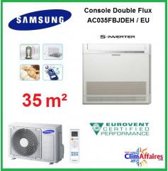 Samsung Console Double Flux Réversible - AC035MNJDKH/EU (3.5 kW)