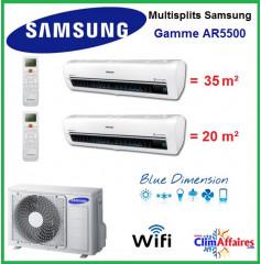 Samsung Bi-Splits - AR5500 - AJ050MCJ2EH/EU + AR07KSWSAWKNEU + AR12KSWSBWKNET (5.0 kW)
