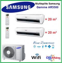 Samsung Bi-Splits - AR5500 - AJ040MCJ2EH/EU + 2 x AR07KSWSAWKNEU (4.0 kW)