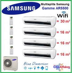 Samsung Quadri-Splits - AR5500 - AJ080FCJ4EU + 3 x AR07KSWSAWKNEU + AR12KSWSBWKNET (8.0 kW)