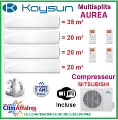 Kaysun Quadri-Splits - AUREA II - R410A - KAM4-80 DN7 + 3 x KAY-S 26 DR8 + KAY-S 35 DR8 (8.21 kW)