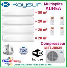 Kaysun Quadri-Splits - AUREA - KAM4-105 DN7 + 3 x KAY-S 26 DN7 + KAY-S 52 DN7 (10.55 kW)