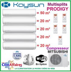 Kaysun 5 postes - PRODIGY - KAM5-120 DN7 + 4 x KAY-26 DN7 + KAY-52 DN7 (12.31 kW)