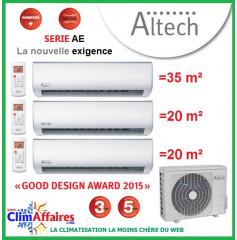 Altech Tri-Splits - Série AE - D3OE-27HFN1-Q + DAEBU-12HRF + 2 x DAEAU-09HRF (7.9 kW)