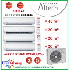 Altech Quadri-Splits - Série AE - D4OE-36HFN1-Q + DAECU-18HRF + 3 x DAEAU-09HRF (10.6 kW)