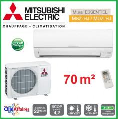Mitsubishi Mural Inverter - Gamme Essentiel HJ/DM - MSZ-HJ71VA + MUZ-HJ71VA (7.1 kW)
