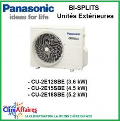 Panasonic Climatisation Unités Extérieures Bi-Splits Inverter - CU-2E12SBE - CU-2E15SBE - CU-2E18SBE