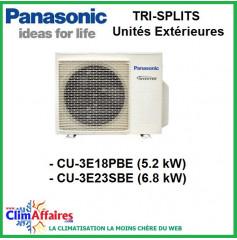 Panasonic Climatisation Unités Extérieures Tri-Splits Inverter - CU-3E18PBE - CU-3E23SBE