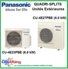 Panasonic Climatisation Unités Extérieures Quadri-Splits Inverter - CU-4E23PBE - CU-4E27PBE
