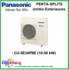 Panasonic Climatisation Unités Extérieures Penta-Splits Inverter - CU-5E34PBE