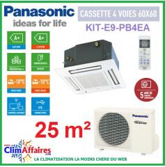 Panasonic CASSETTE 4 Voies 60x60 - KIT-E9-PB4EA (2.5 kW)