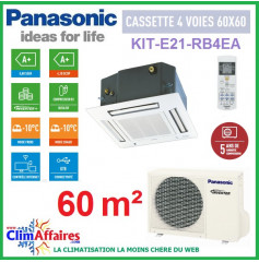 Panasonic CASSETTE 4 Voies 60x60 - KIT-E21-RB4EA (5.90 kW)