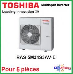 Toshiba Unités Extérieures Multi-splits - Penta-Splits - RAS-5M34S3AV-E