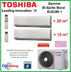 Toshiba Bi-Splits Suzumi + - RAS-2M14S3AV-E + RAS-M07N3KV2-E1 + RAS-B10N3KV2-E1 (4.0 kW)