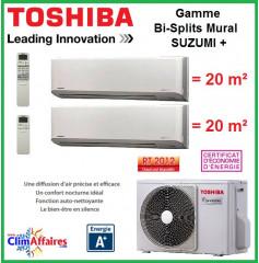 Toshiba Bi-Splits Suzumi + - RAS-2M14S3AV-E + 2 x RAS-M07N3KV2-E1 (4.0 kW)