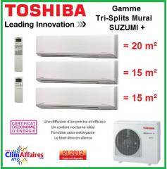 Toshiba Tri-Splits Suzumi + - RAS-3M18S3AV-E + 2 x RAS-M07N3KV2-E1 + RAS-B10N3KV2-E1 (5.2 kW