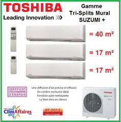Toshiba Tri-Splits Suzumi + - RAS-3M26S3AV-E + 2 x RAS-M07N3KV2-E1 + RAS-B16N3KV2-E1 (7.5 kW)