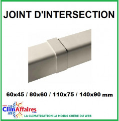 Joint d'intersection pour raccord goulotte (60x45 / 80x60 / 110x75 / 140x90 mm) - Ivoire