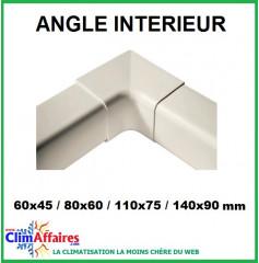 Angles intérieurs pour raccords goulottes (60x45 / 80x60 / 110x75 / 140x90 mm)