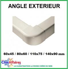 Angles extérieurs pour raccords goulottes (60x45 / 80x60 / 110x75 / 140x90 mm)