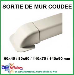 Sorties de mur coudées pour raccords goulottes (60x45 / 80x60 / 110x75 / 140x90 mm)