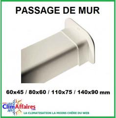 Passages de mur pour raccords goulottes (60x45 / 80x60 / 110x75 / 140x90 mm)