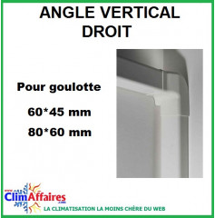 Angles vertical droit pour raccords goulottes (60x45 / 80x60 mm)