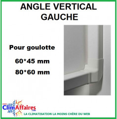 Angles vertical gauche pour raccords goulottes (60x45 / 80x60 mm) - Ivoire