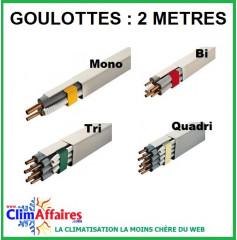Goulotte pour tube et liaisons frigorifiques de 2 mètres (60x45 / 80x60 / 110x75 / 140x90 mm)