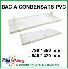 Bac à condensats en PVC - 790*390 mm / 940*420 mm