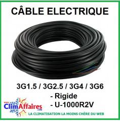 Câble électrique rigide U-1000R2V - 3G1.5 / 3G2.5 / 3G4 / 3G6