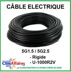 Câble électrique rigide U-1000R2V - 5G1.5 / 5G2.5
