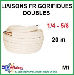 Liaisons frigorifiques en cuivre isolées double M1 1/4 - 5/8 (20 m)