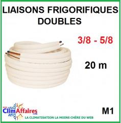 Liaisons frigorifiques en cuivre isolées double M1 3/8 - 5/8 (20 m)
