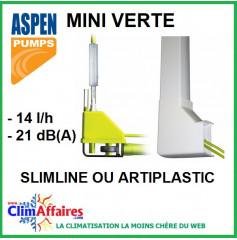 Pompe de relevage Aspen - MINI VERTE + goulotte - Slimline ou Artiplastic (14l/h)
