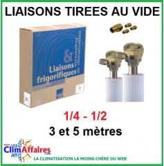 Liaison Flare préchargée 1/4 - 1/2 pour climatisation (à partir de 3 mètres)