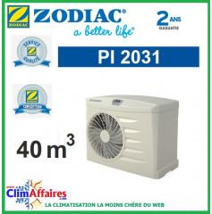 Pompe à chaleur pour piscine ZODIAC 9kW - PI2031 (40 m³) (Anciennement Power 7 mono)