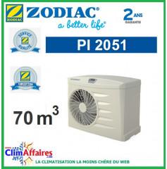 Pompe à chaleur pour piscine ZODIAC 14 kW - PI2051 (70 m³) (Anciennement Power 11 mono)