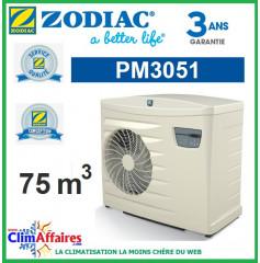 Pompe à chaleur pour piscine ZODIAC 12 kW - PM3051 (75 m³) (Anciennement Power First Premium 11 mono)