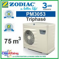 Pompe à chaleur pour piscine ZODIAC 12 kW Triphasée - PM3053 (75 m³) (Anciennement Power First Premium 11 tri)