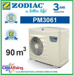 Pompe à chaleur pour piscine ZODIAC 16 kW - PM3061 (90 m³) (Anciennement Power First Premium 13 mono)