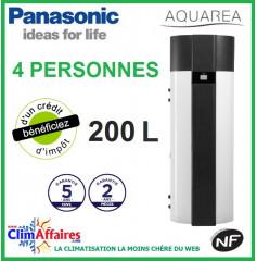 Chauffe Eau Thermodynamique PANASONIC -  AQUAREA PAW-DHWM200A - Idéal pour 4 personnes (200 L)