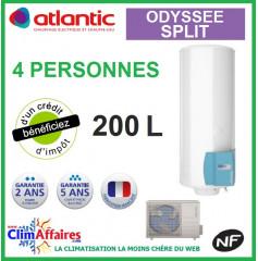 Chauffe Eau Thermodynamique ATLANTIC - ODYSSEE SPLIT - Idéal pour 4 personnes (200 L)