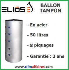 Ballon Tampon en Acier - 50 litres (8 piquages)