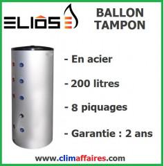 Ballon Tampon en Acier - 200 litres (8 piquages)