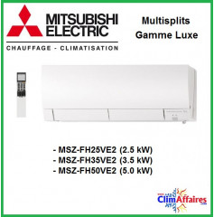 Mitsubishi Mural Inverter - Luxe MSZ-FH - MSZ-FH25VE2 / MSZ-FH35VE2 / MSZ-FH50VE2