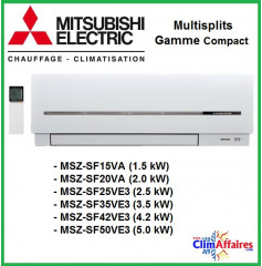 Mitsubishi Mural Inverter - Compact MSZ-SF - MSZ-SF15VA / MSZ-SF20VA / MSZ-SF25VE3 / MSZ-SF35VE3 / MSZ-SF42VE3 / MSZ-SF50VE3