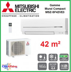 Mitsubishi Mural Inverter - Gamme Compact - MSZ-SF42VE3 (4.2 kW)