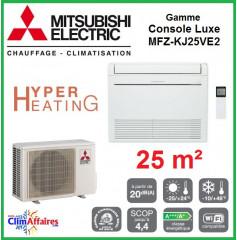 Mitsubishi Console Hyper Heating  Inverter - Gamme DE LUXE - MFZ-KJ25VE2 (2.5 kW)